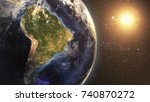 earth space view night at south ... | Shutterstock . vector #740870272