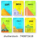travel information traditional... | Shutterstock .eps vector #740872618