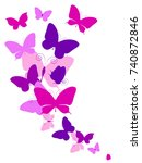 beautiful pink butterflies ... | Shutterstock .eps vector #740872846