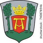coat of arms of aurich is a... | Shutterstock .eps vector #740878546