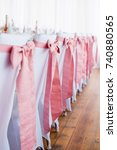 formal event chair decoration.... | Shutterstock . vector #740880565
