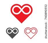 forever love logo template.... | Shutterstock .eps vector #740890552