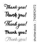 thank you handwritten vector... | Shutterstock .eps vector #740892472