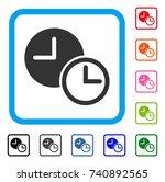 clocks icon. flat grey...