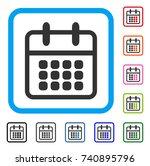 calendar icon. flat grey...   Shutterstock .eps vector #740895796