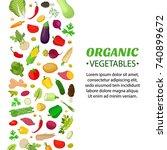 vegetables set  logo  label for ... | Shutterstock .eps vector #740899672