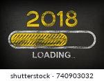 progress bar showing loading of ... | Shutterstock . vector #740903032