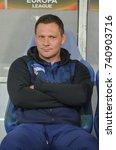 Small photo of LVIV, UKRAINE - October 19, 2017: Coach Pal Dardai during the UEFA Europa League match between Zorya Luhansk vs Hertha BSC (Germany), Ukraine