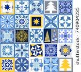 Geometric Christmas Background...