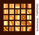 set of golden gradients  vector ... | Shutterstock .eps vector #740905462
