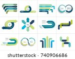 mega set of various arrows... | Shutterstock .eps vector #740906686