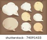 paper speech bubbles  round   Shutterstock .eps vector #74091433