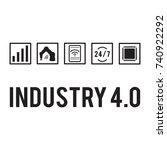 industry 4.0 concept.... | Shutterstock .eps vector #740922292