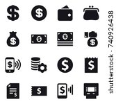 16 vector icon set   dollar ... | Shutterstock .eps vector #740926438