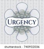 blue and green passport money... | Shutterstock .eps vector #740932036