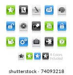 web 2.0 icons    clean series   ... | Shutterstock .eps vector #74093218