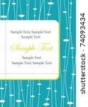 blue invitation card | Shutterstock .eps vector #74093434