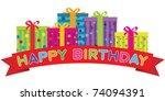 vector happy birthday red...