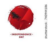 banner or poster of albania... | Shutterstock .eps vector #740944186