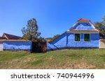 traditional house in viscri... | Shutterstock . vector #740944996