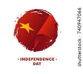 banner or poster of vietnam... | Shutterstock .eps vector #740947066