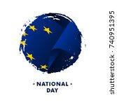 banner or poster of europe... | Shutterstock .eps vector #740951395