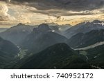 mountains around mangart in...   Shutterstock . vector #740952172