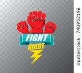 fight night vector modern... | Shutterstock .eps vector #740952196