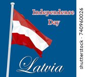 independence day of latvia.... | Shutterstock .eps vector #740960026