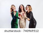 party and holidays concept.... | Shutterstock . vector #740969512