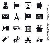16 vector icon set   call... | Shutterstock .eps vector #740977972