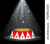 circus stage | Shutterstock .eps vector #740981005