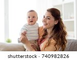 family  child and motherhood... | Shutterstock . vector #740982826