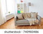 comfort  furniture and interior ... | Shutterstock . vector #740983486