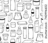 packaging vector background.... | Shutterstock .eps vector #740996602