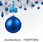 new year background with fir... | Shutterstock .eps vector #740997892