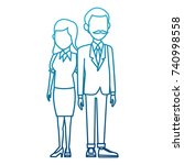 teachers teamwork couple   Shutterstock .eps vector #740998558