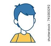 boy faceless cartoon | Shutterstock .eps vector #741003292