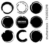 hand drawn ink grunge circles... | Shutterstock .eps vector #741003298