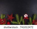 christmas. christmas decoration ... | Shutterstock . vector #741012472