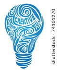 creative lamp | Shutterstock .eps vector #74101270