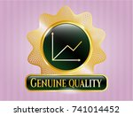 shiny emblem with chart icon... | Shutterstock .eps vector #741014452