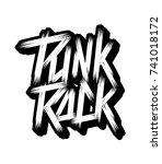 punk rock lettering text.... | Shutterstock .eps vector #741018172