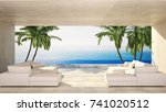 luxury modern living area in a... | Shutterstock . vector #741020512