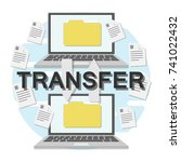 file transfer between two... | Shutterstock .eps vector #741022432