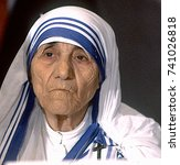 Small photo of Washington, DC. USA, 10th July, 1986 Mother Teresa addresses the National Council for International Health meeting in Washington DC.