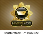 shiny badge with folder icon... | Shutterstock .eps vector #741039622