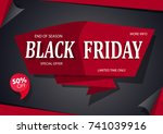 black friday sale inscription... | Shutterstock .eps vector #741039916
