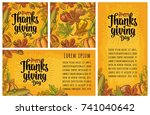 seamless pattern and poster... | Shutterstock .eps vector #741040642