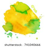 colorful abstract watercolor... | Shutterstock .eps vector #741040666
